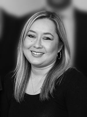Black & white photo of Tracey Langdale, Brand Creation Specialist